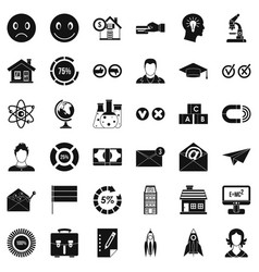 Elearning icons set simple style vector