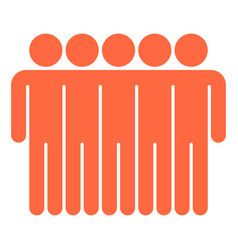 Five man sign people icon vector