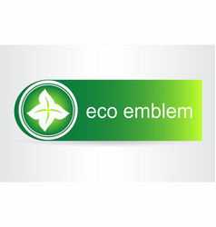 Green leaves eco icon vector
