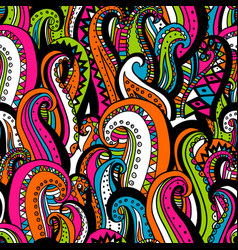 hand drawn wave abstract ornamental ethnic vector image