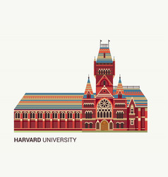 Harvard university icon vector