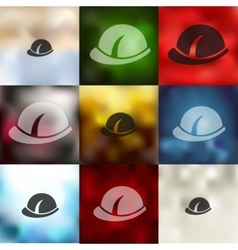 helmet icon on blurred background vector image