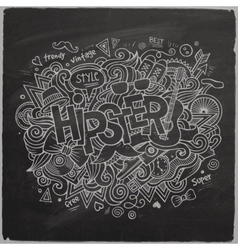 Hipster hand lettering vector image