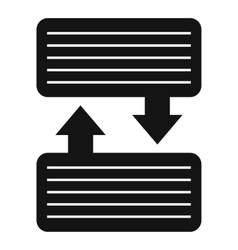 Infographic blocks with arrows icon simple style vector
