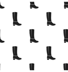 Knee high boots icon in black style isolated on vector