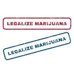 Legalize marijuana rubber stamps vector