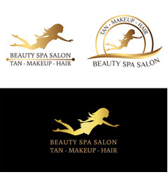 logo set for beauty salon spa salon beauty shop vector image vector image