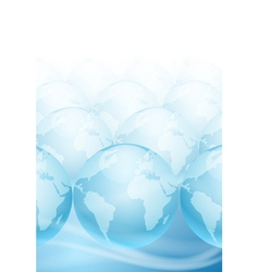 Many globes on a blue background vector