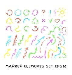 Marker arrows set vector