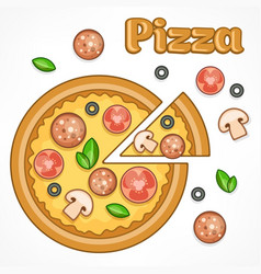 pizza homemade vector image vector image