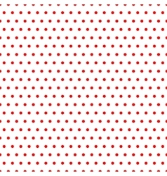 Polka dot red seamless pattern vector image vector image