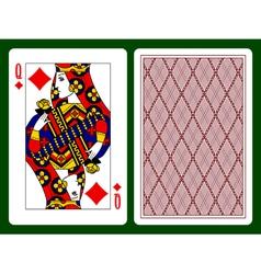 Queen of Diamonds vector image