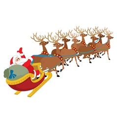 santa on white vector image vector image