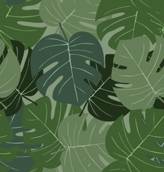 Seamless camouflage pattern of palm leaves dark vector