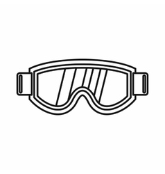 Skiing mask icon outline style vector