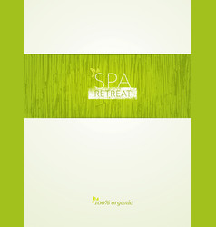 spa retreat organic eco background nature vector image vector image