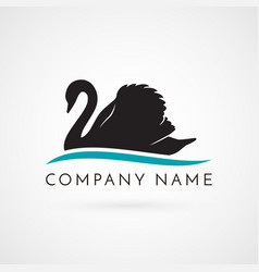 Swan logo sign emblem-19 vector