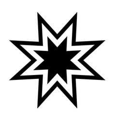 trendy retro star the black color icon vector image vector image