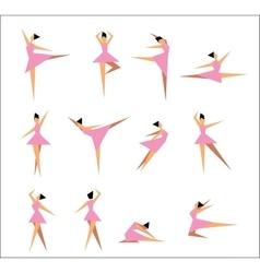 Group of modern ballet dancers vector image