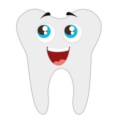 Tooth dental healthcare isolated icon vector