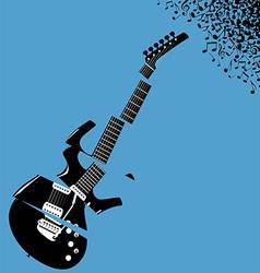 Shredded guitar music background vector