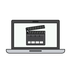 Isolated clapboard and laptop design vector