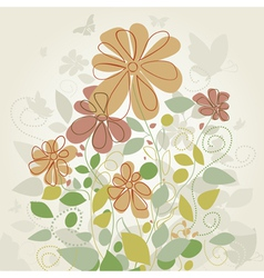 Flowers in the spring2 vector