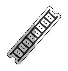 Construction ladder equipment vector