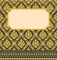 Frame with thai art vector