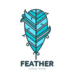 feather logo template vector image