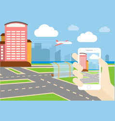 gps game mobile application design vector image