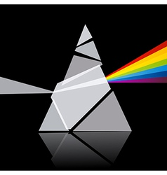 Prism spectrum on black background vector