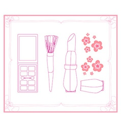 Cosmetics set for fashion design vector