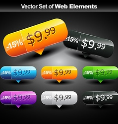 Shiny web buttons vector