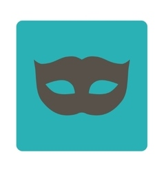 Privacy mask flat grey and cyan colors rounded vector