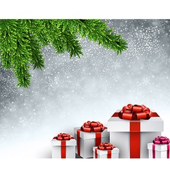 Christmas tree gifts vector