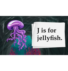 Letter J is for jellyfish vector image