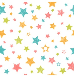 Cute seamless pattern with colorful stars Stylish vector image