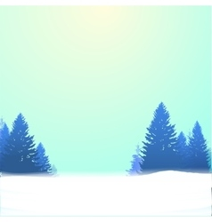 Winter background with pines and snow vector
