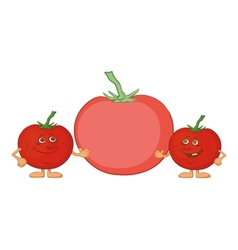 Character tomatoes friends vector