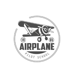 Pilot school emblem design vector