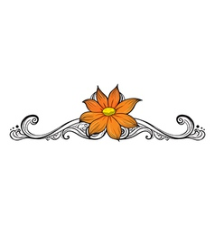 A simple flower border vector image