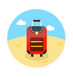 baggage icon travel summer vacation vector image vector image