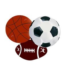 Balls soccer volley-ball regbi vector