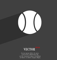 Baseball symbol flat modern web design with long vector