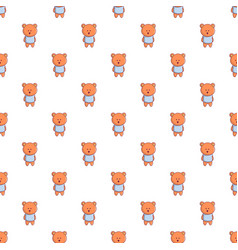 Bear toy pattern seamless vector