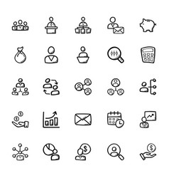 Business doodle icons 3 vector
