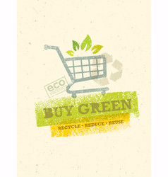 Buy green eco shopping cart organic food nature vector