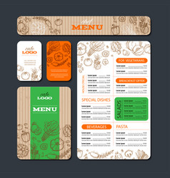 Cafe or restaurant identity template vector