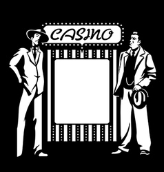 Casino mafia vector